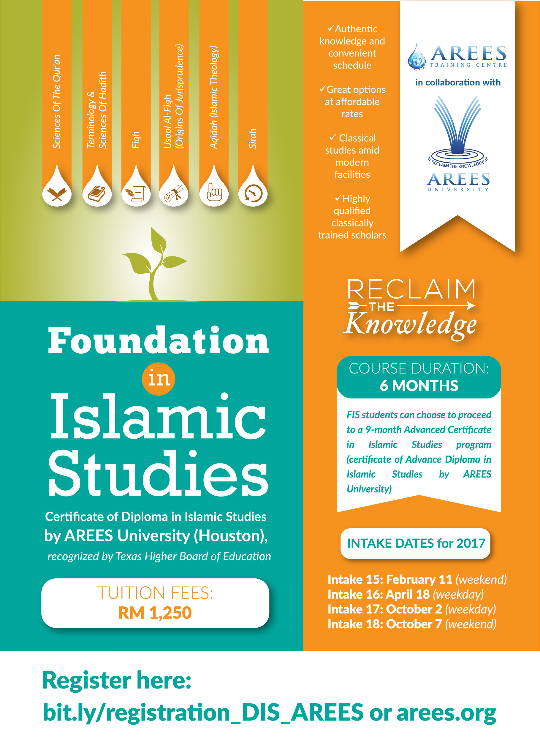Foundation in islamic studies arees university training centre our courses xflitez Choice Image